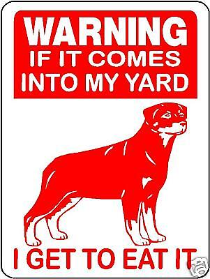 Rottweiler Guard Dog Aluminum Sign Warning D2667