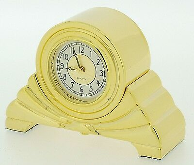 Miniature Novelty Art Deco Napoleon Style Mantel Clock in Solid Brass