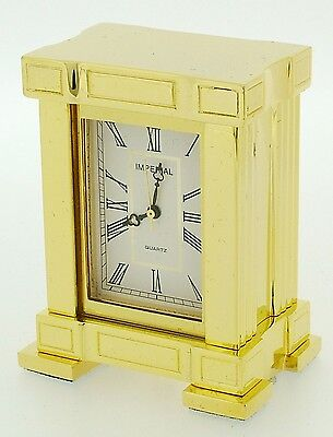 Miniature Novelty French Mantel Clock in Solid Brass