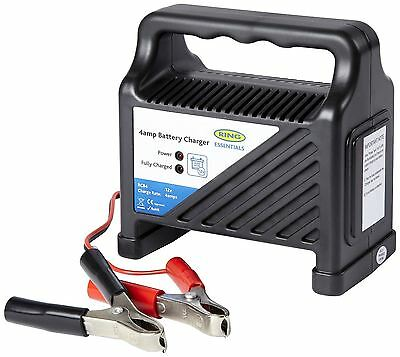 New RING AUTOMOTIVE 12v 4AMP CAR/VAN/BIKE COMPACT BATTERY CHARGER RCB4