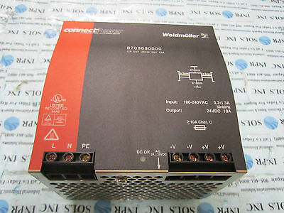 Connect Power Weidmuller 8708680000 24VDC Power Supply 250W 10A * Fully Tested*