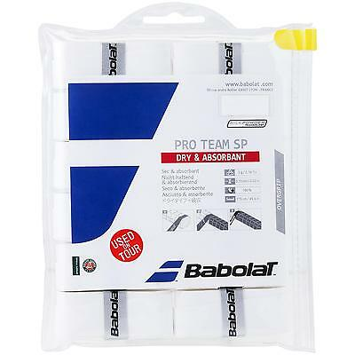 Babolat Pro Team SP White - (Pack of 12) Overgrip Tennis - 0.55mm - Free P&P