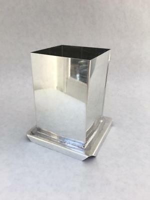 "3"" x 6 1/2"" SQUARE PILLAR METAL CANDLE MOLD NEW"