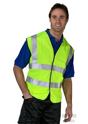 Yellow Hi Visibility Safety Vest Waistcoat EN471 - High Viz Vis