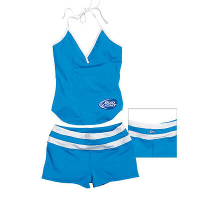 f584d51ce06 Bud Light 2 Piece Tankini Made of Polyester & Spandex Free Shipping in USA