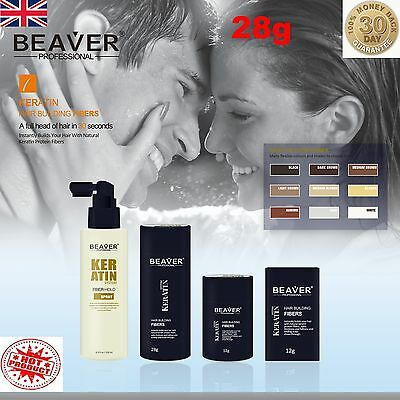 Beaver Hair Building Fibres Keratin Thickening Fibers Concealer Fixing Spray