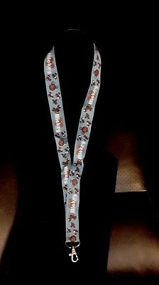 Disney Pin Lanyard Brown Mickey Mouse Icon  Blue In Color 37 In Adult/child