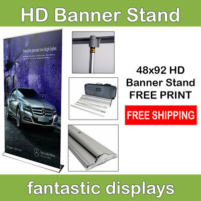 "48"" Pro Line Retractable Banner Stand with Print Included for Trade Show Booths"