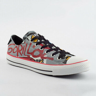 size 40 81d2d d0215 CONVERSE SCHUHE CHUCKS CT AS Ox Lead 132321C Comic Gorillaz Grau Blau Canvas