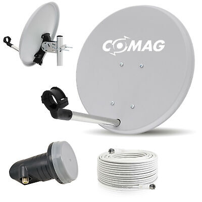 Digital Camping Sat Anlage Spiegel 40 cm Single LNB +Kabel 10m Full HD HDTV mini