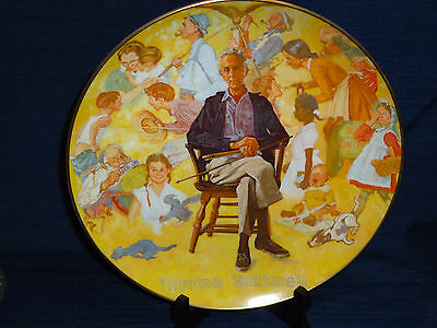 "10.5"" ""NORMAN ROCKWELL REMEMBERED"" fine china by Viletta collector's PLATE 1979"