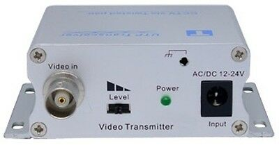 Active Cat5 to BNC Converter Video Balun Transmitter Dual Power