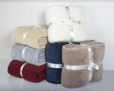 350GSM Micro Plush Blanket Ultra Soft and Warm 3 Sizes 6 Colours to choose from