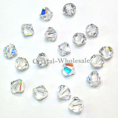 Swarovski 5328 / 5301 Xilion Bicone Beads Factory Pack CRYSTAL AB (001 AB)