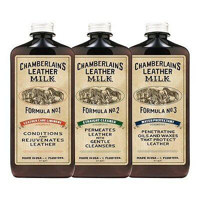 """Chamberlain's Leather Milk """"Classic"""" Clean, Condition, Protect SET No. 1-3 