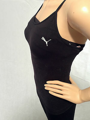 Puma Complete Bodywear Women's Tanklet Top - Black, Gym, Fitness, Exercise, Yoga