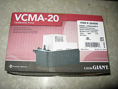 Little Giant VCMA-20ULS HVAC Condensate Pump 80 GPH  554425
