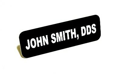 1X3 Employee Personalized Name Tag Badge Custom Engraved With Magnet