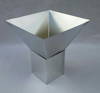 "6"" x 6"" FOUR SIDED PYRAMID PILLAR METAL CANDLE MOLD NEW"
