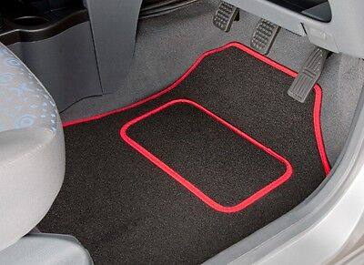 Bmw 5 Series E34 (1987 - 1996) Tailored Car Mats With Red Trim (1565)