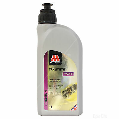 Millers Oils TRX Synth 75W-90 Full Synthetic Gear Oil 75W90 Fluid 1 Litre 1L
