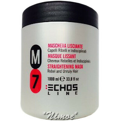 Straightening Mask M7 Rebel and Unruly Hair 1Lt Echos Line ® Maschera Lisciante