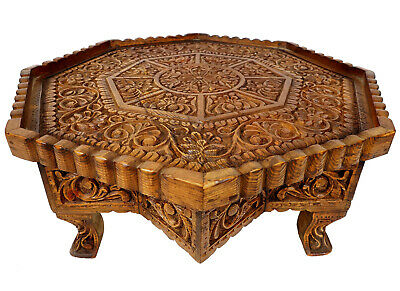 70 cm antik-look massiv Holz orient Teetisch Tisch coffee table usbekistan