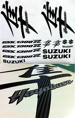 Hayabusa GSX 1300 R Full Replacement Decals Stickers Carbon Graphics