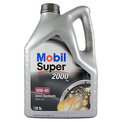 Mobil Super 2000 X1 10W-40 Semi Synthetic Engine Oil 10W40 5 Litres 5L