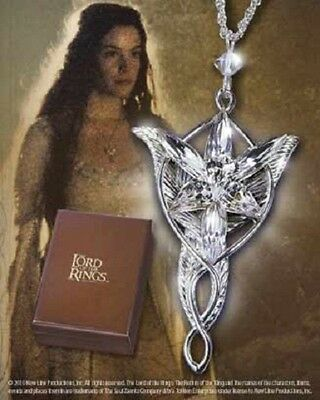 Lord of the Rings Arwen Evenstar Sterling Silver Necklace Pendant The Hobbit