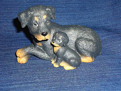 HOMCO Canine Companions ceramic ROTTWEILER puppy dogs FIGURINE