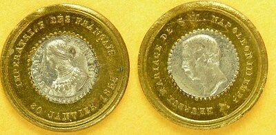 France: Louis III, Bicolor, Marriage, w/ Eugenie 1853