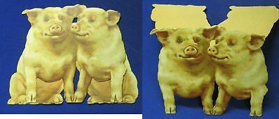 Stand-up Card; 2 Smiling Pigs