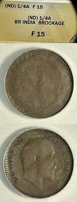 Error: India: (ND) 1/4 Anna Edward VII Full Mirror Brockage  F 15