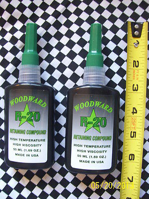 2 Pk  Woodward Race Products WRP Woodwardraceproducts Retaining Compound