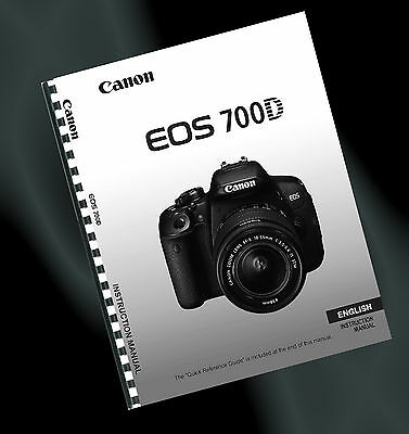 ~ PRINTED ~ Canon EOS 700D Digital SLR User Guide, Instruction Manual (FULL A4)