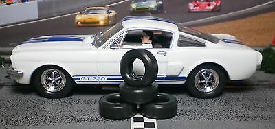 1/32 URETHANE SLOT CAR TIRES 2pr PGT-21093XD fit CARRERA Mustang Camaro Corvette