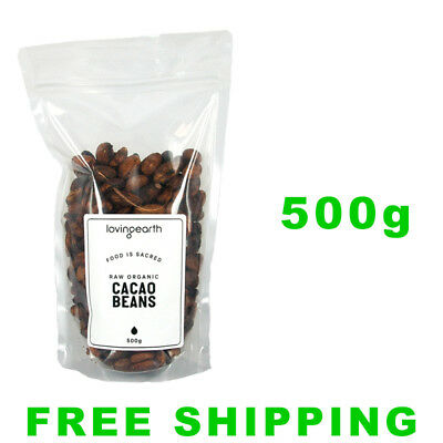 Loving Earth Organic Raw Cacao Beans 500g