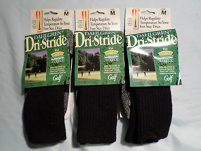 3 X Dahlghren Usa Gents Combed Cotton Dri-Stride Climate Knit Golf Socks M L Xl