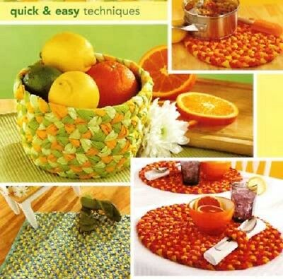 Braidcraft braided rug, basket braiding instructions