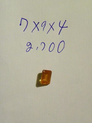 Hessonite Orange Garnet 7x9x4 mm Octagon Faceted 2.700 Carats