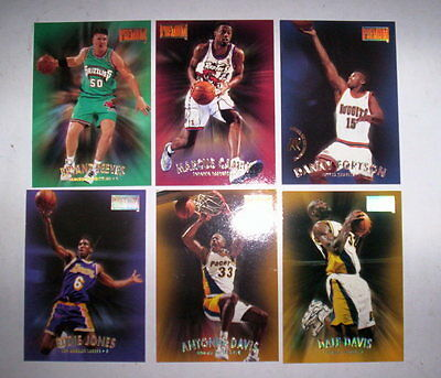 Superbe Lot 6 Cartes Basket Nba Premium Skybox 1997