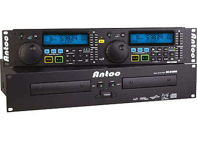 "Antoc AN-D4000 - Doppel-CD-Player 19"" Doppel CD-Player AN-D 4000 AND-4000 Player"