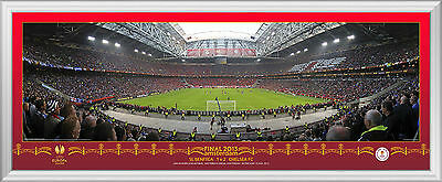2013 Europa League Final Behind Goal Framed Panoramic Photographic Print