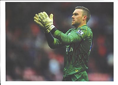 A 12 x 8 inch photo personally signed by Lee Camp of  Norwich City