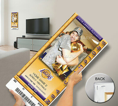 2010 NBA Finals Mega Ticket - Game 2, Gasol - Los Angeles Lakers Champions