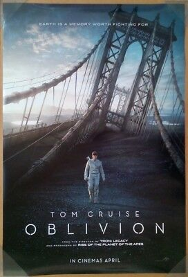 OBLIVION MOVIE POSTER 2 Sided ORIGINAL INTL 27x40 TOM CRUISE MORGAN FREEMAN