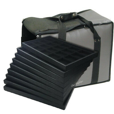 Medium Jewelry Carrying Case Grey Travel Case & Jewelry Trays & Liners