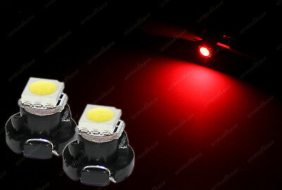 2x LED T4.2 Neo Wedge 1-1210 HID Red Dashboard Cluster Speedometer Panel Bulbs