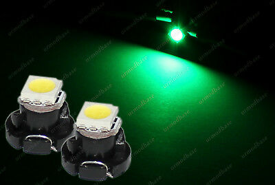 2x LED T4.2 Neo Wedge 1-1210 Green Dashboard Cluster Lights Speedometer Bulbs